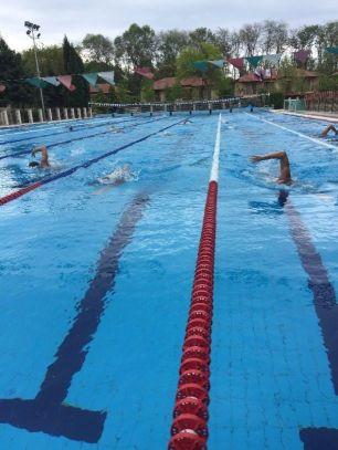 Первая тренировка в бассейне – 9.00-11.00